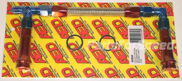 6 AN AED 60995 Holley 4160 Braided Carburetor Fuel Line Vacuum Secondary