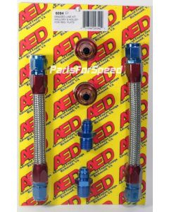 AED 6094D Holley 4500 Dominator Carburetor Braided Line Kit Holley Regulator