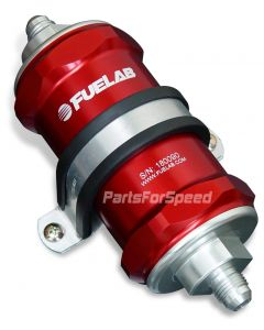 Fuelab Fuel Filter 40 Micron -8AN Red