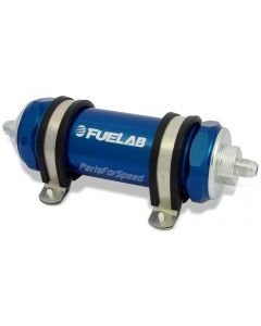 Fuelab Fuel Filter 10 Micron -6AN Long Blue