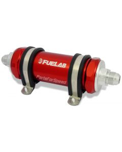 Fuelab Fuel Filter 10 Micron -6AN Long Red