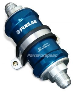 Fuelab Fuel Filter 75 Micron -6AN Blue