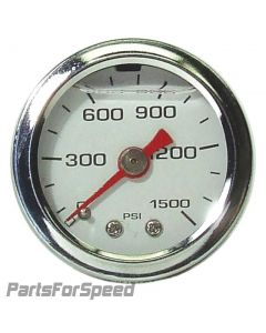 Liquid Filled Nitrous Pressure Gauge 0-1500 PSI