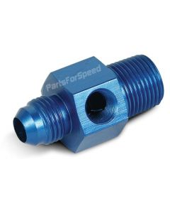 "Straight Gauge Adapter Fitting 3/8"" NPT to -6AN"