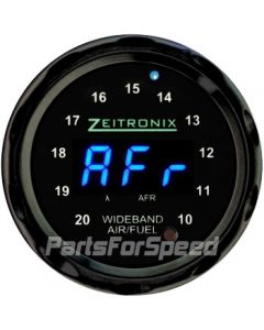 Zeitronix ZR-2 Multi Gauge Wideband Black Bezel Blue LED Digits