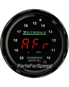 Zeitronix ZR-2 Multi Gauge Wideband Black Bezel Red