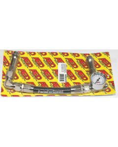 AED 6098UEB Black Braided Fuel Line 8AN Silver Fittings Holley Ultra HP XP w/Ga Made in the USA