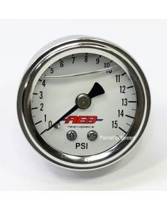AED 6101 0-15 psi Liquid Filled Fuel Pressure Gauge 1/8 inch NPT Holley Edelbrock