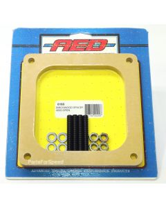 "AED 6160 Birchwood 1/2"" Open Spacer with Stud Kit 4500 Dominator Carburetors"