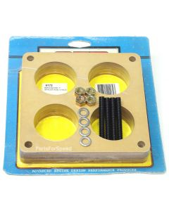 "AED 6172 Birch Wood 1"" 4 Hole Spacer with Stud Kit 4500 Dominator Carburetors"