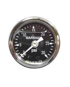 Liquid Filled Fuel Pressure Gauge 0-30 PSI Black Face