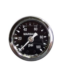 Liquid Filled Fuel Pressure Gauge 0-100 PSI Black Face