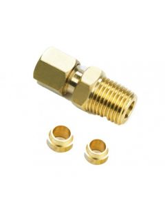 Davies Craig 0418 Compression Fitting ¼ NPT WITH 5 & 6MM Olive