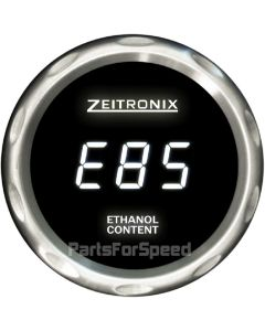 Zeitronix ECA-2 Ethanol Content Analyzer with Flex Fuel Sensor and Gauge White