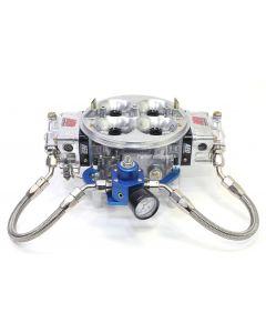 Fuel Pressure Regulator, Bracket, Lines, and Gauge Kit for Holley Dominator 4500 Carburetors
