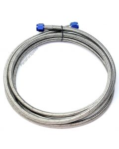 "10 foot / 120"" 6AN Braided Nitrous Feed Line / Hose Teflon Core Made in USA"