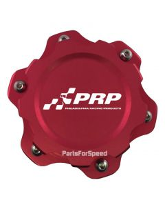 PRP 7611 Billet Aluminum Fuel Cell Cap 6 Bolt Red Made in the USA