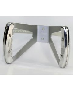 PRP 9470 Jr Dragster Butterfly Steering Wheel Silver w Polished Grips USA Made