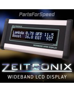 Zeitronix Wideband O2 AFR Silver LCD DISPLAY ONLY Requires Zt-2 + Oxygen Sensor
