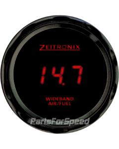 Zeitronix ZR-3 Black Gauge for Wideband Red LED Digits