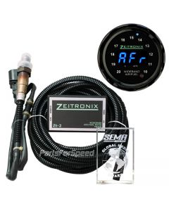 Zeitronix ZT-2 plus Black ZR-2 Multi Gauge Bundle with Black bezel and Blue LED Digits