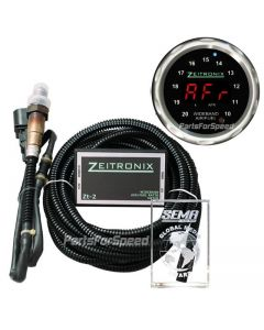 Zeitronix ZT-2 plus Black ZR-2 Multi Gauge Bundle with Silver bezel and Red LED Digits