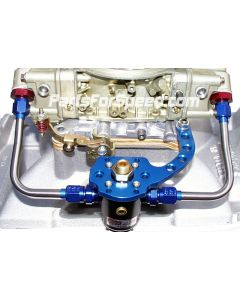 AED 6093 Billet Blue Anodized Regulator Bracket