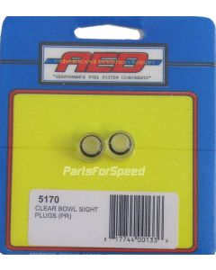 AED Holley 5170 Clear View Bowl Sight Plugs Pair