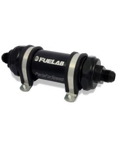 Fuelab Fuel Filter 10 Micron -6AN Long Black